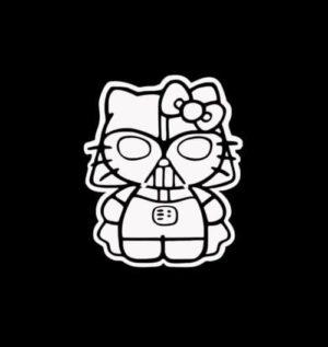 Hello Kitty Darth Vader Decal Sticker