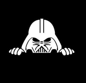 Darth Vader Peeking Decal Sticker