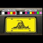 Dont Tread On Me Custom License Plate