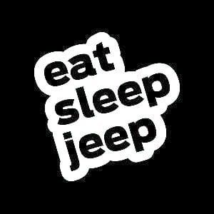Eat Sleep Jeep Decal Sticker