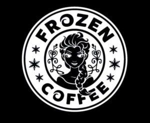 Elsa Frozen Coffee Decal Sticker