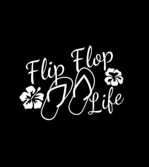 Flip Flop Life Window Decal Sticker