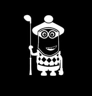 Gru Minion Golfer Decal Sticker