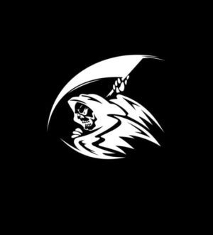 Grim Reaper Decal Sticker a2