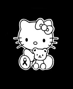 Hello Kitty with teddy bear Decal Sticker