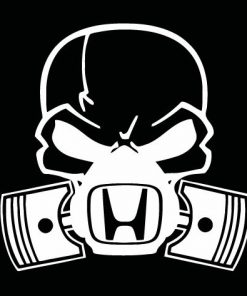 Honda skull mask JDM Decal Sticker