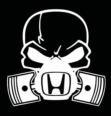Honda Skull Mask JDM Vinyl Decal Stickers - Custom decal stickers