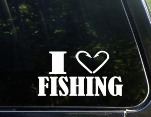I love fishing decal sticker