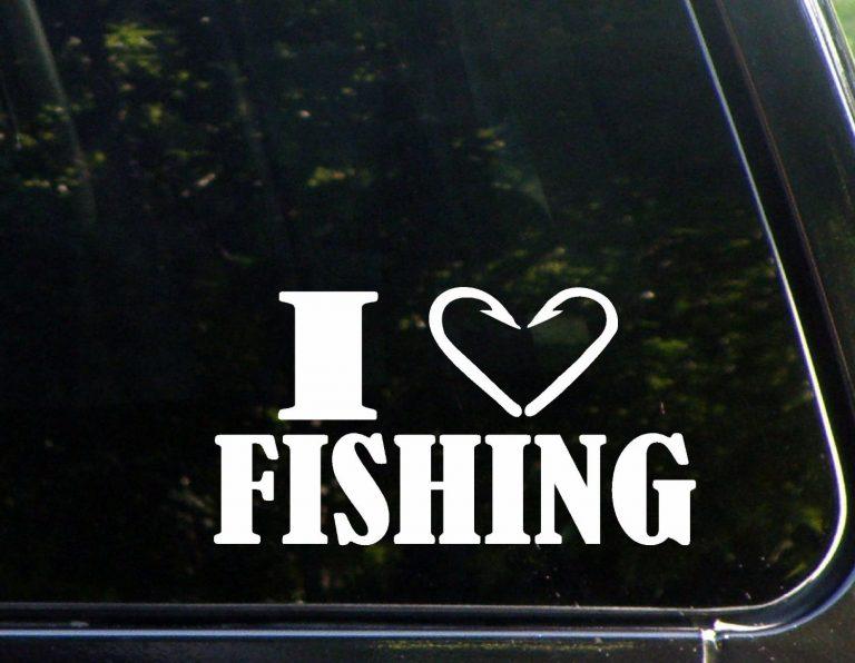 I love fishing decal sticker