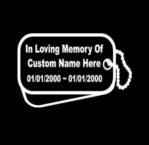 in loving memory dog tags
