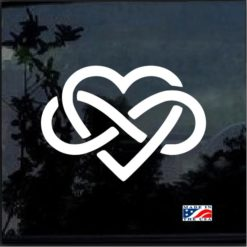 infinty heart love forever decal sticker