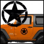 Jeep Distressed Star Door Set of 2 Jeep Decal Stickers