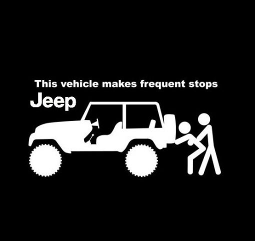 Jeep Frequent Stops Decal Sticker