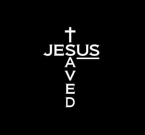 Jesus Saved US Decal Sticker