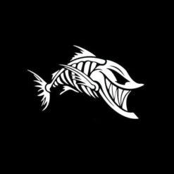 Joker Fish Skull Decal Sticker