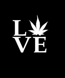 Love Weed marijuana Decal Sticker