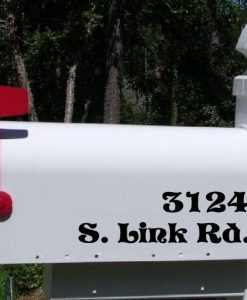 Custom Mailbox Lettering Decal Stickers