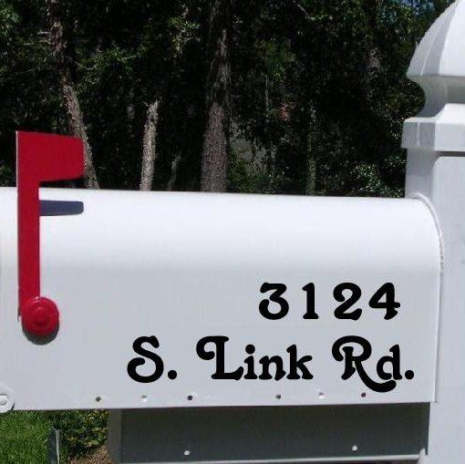 custom mailbox. Custom Mailbox Lettering Decal Stickers