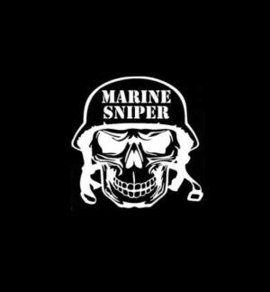 Marine Sniper Skull Decal Sticker