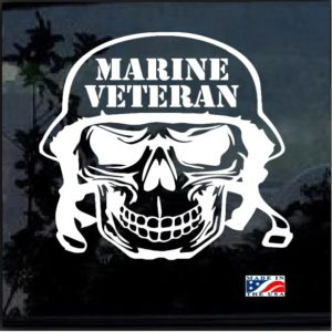 marine veteran skull helmet decal sticker