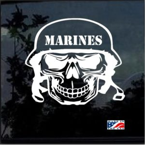marines skull helmet decal sticker