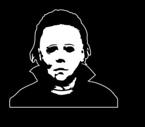 Michael Myers horror decal sticker II