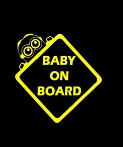 Minions Baby on Board Decal Sticker