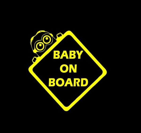 minions baby on board vinyl decal stickers. Black Bedroom Furniture Sets. Home Design Ideas