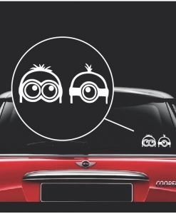 minions peeking window decal sticker