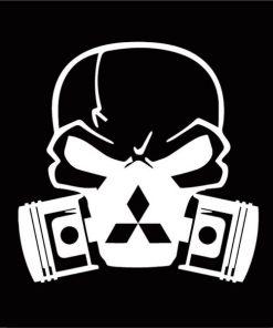 Mitsubishi skull mask JDM Decal Sticker