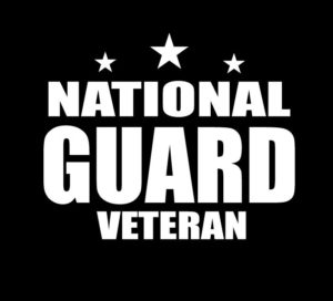 National Guard Veteran Decal Sticker