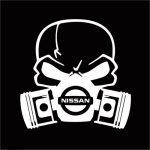 Nissan skull mask JDM Car Window Decal Stickers