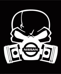 Nissan skull mask JDM Decal Sticker