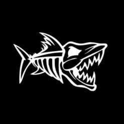 Nitro Fish Skull Decal Sticker
