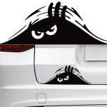 Peeking Monster Bumper Decal Sticker A2