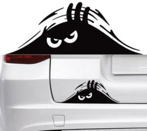 Peeking Monster Bumper Sticker