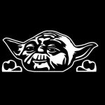 Yoda Star Wars Peeking Window Decal Sticker