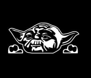Yoda Star Wars Peeking Decal Sticker