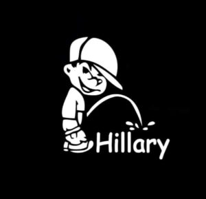 Piss on Hillary Clinton Decal Sticker