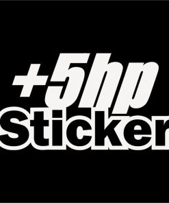 Plus 5 HP Jdm Decal Sticker