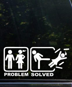 Problem Solved Funny Decal Sticker