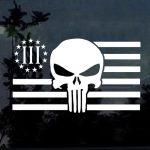 Punisher Skull 3 percenter flag Window Decal Sticker