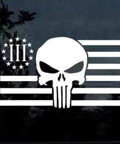 punisher skull flag decal sticker