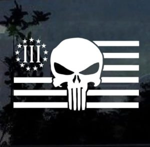 punisher skull flag decal sticker
