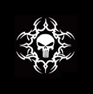 Punisher Tribal Decal Sticker