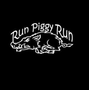 Run Piggy Run Boar Hunting Decal Sticker