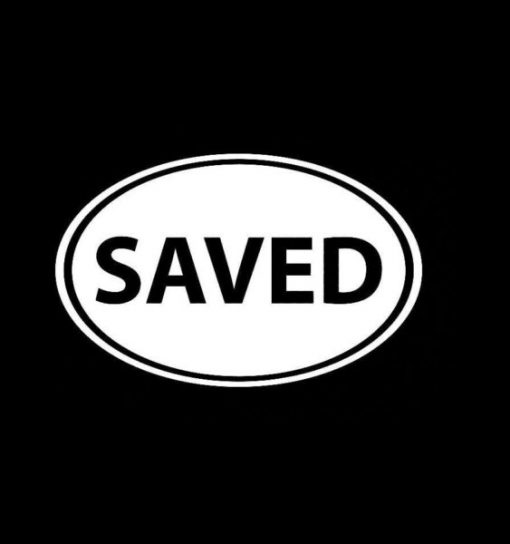 Saved Oval Decal Sticker