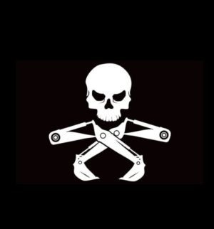 Skull Backhoe Digger Decal Sticker
