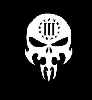 3 percenter Skull Decal Sticker