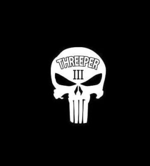 Chris Kyle Punisher Threeper 3 percenter decal